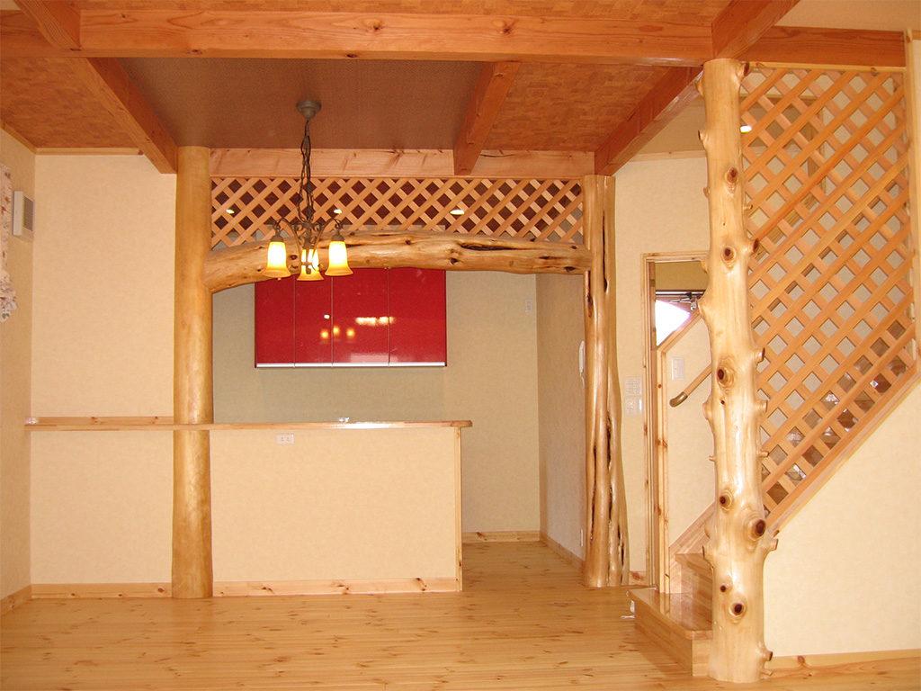 伊豆の国市墹の上のカントリー調の新築住宅のLDK
